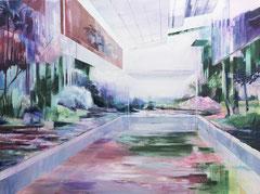 Pool, Acryl und Öl auf Leinwand, 105x140cm, 2019