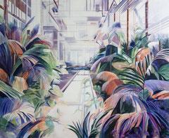 Palmenhaus, Acryl und Öl auf Leinwand, 190x230cm,2019