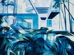 Weisse Nacht, Acryl und Öl auf Leinwand, 75x100cm, 2020