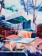 Baumhaus, Acryl und Öl auf Leinwand, 100x75cm, 2020