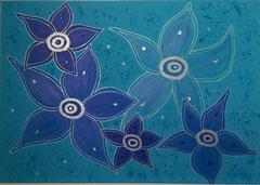 Blumen in Blau verkauft