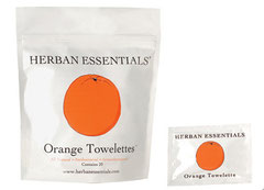 HERBAN Essential Oil Towelettes - Orange