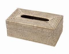 0046W Rattan  Rectangular Tissue Box 25x14x10