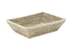 0580W Rattan  Bathroom Basket 22.5x13x4.5