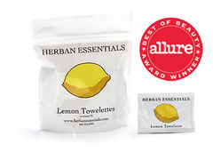 HERBAN Essential Oil Towelettes - Lemon