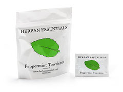 HERBAN Essential Oil Towelettes - Peppermint