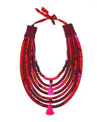 Collier Shantala perles/pompons