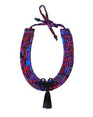 Collier Shantala passementerie/pompon/violet