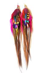 Boucles d'oreilles <<Jaluchu>> perlées