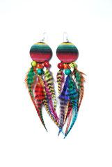 Boucles d'oreilles <<Jaluchu>> multicolores