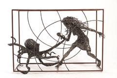 Tentacles - Size (cm): 88x42x60 - metal sculpture