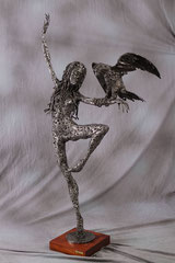 Going together - Size (cm): 63x41x131 - metal sculpture