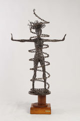 My chain - Size (cm): 58x25x107 (NOT AVAILABLE) - metal sculpture
