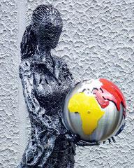 Your future - Size (cm): 120x80x24 - metal sculpture