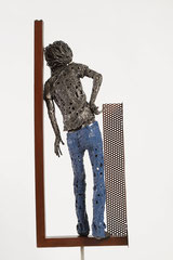 Waiting - Size (cm): 30x20x101 - metal sculpture