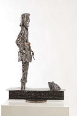 My prince - Size (cm): 69x46x20 - metal sculpture