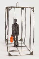 The traveler - Size (cm): 80x30x60 (NOT AVAILABLE) - metal sculpture