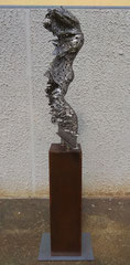 Wind gust - Size (cm): 140x40x30 - metal sculpture - (NOT AVAILABLE)
