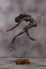 You are mine  - Size (cm): 75x33x99 - metal sculpture