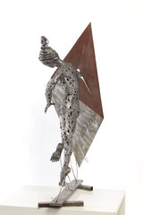 Wherever you are - Size (cm):  80x62x30 - metal sculpture