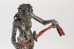 Fil rouge - Size (cm): 67x30x35 - metal sculpture