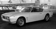 """So wurde der OSI im März 1966 in Genf präsentiert (mit """"Kiemen"""" und Borrani-Speichenfelgen)"""