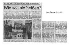 Kieler Express, 18.05.2011 - An der Räucherei entsteht eine Kinderstadt - Wie soll sie heißen?