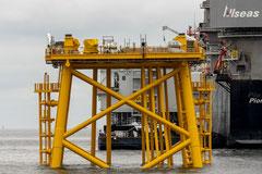EDF RENOUVELABLES - CAPA ENTREPRISES - Installation du Jacket - Parc éolien offshore de Guérande