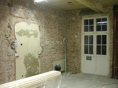 Küche vorher mit geschlossener Wand