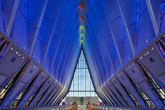 Air Force Academy Cadet Chapel Colorado Springs, Colorado, Walter Nedsch, Skidmore, Owings & Merrill 1962