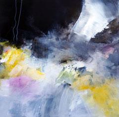 """Trio """" Les balançoires"""" 3 - Acrylique et pigments sur toile 50 x 50 cm épaisseur 3.5. Disponible seule ou avec les parties 1 et 2"""