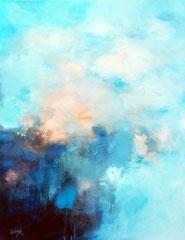 """""""Un morceau d'espace"""" 2 peinture acrylique sur toile 89 x 116"""