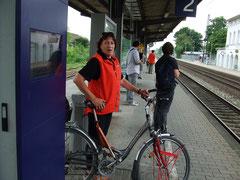 Warten auf den Zug nach hause