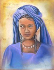 Targuia -pastel 50x65- Niger