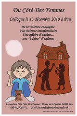 affiche colloque violence conjugale