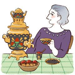 ロシアのお茶・サモワール