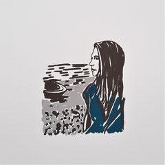 starke Frauen, Steffi, Siebdruck, 2021, 10 x 10 cm, Christin_Naumann