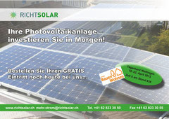 Richtsolar, Buchs: Flyer