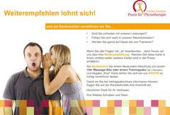 Praxis für Physiotherapie Schubien, Aarau: Flyer
