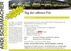 Andi Schumacher Gartenbau GmbH, Aarau Rohr: Flyer Tag der offenen Tür