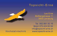 Topsicht Erne, Niederlenz: Visitenkarten