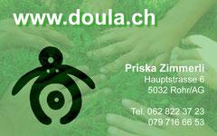 Doula, Aarau Rohr: Visitenkarten