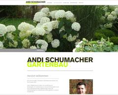Andi Schumacher Gartenbau GmbH, Aarau Rohr - Website