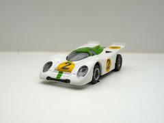 Faller AMS AURORA AFX Porsche 917k weiß/grün #2 klare Scheibe - offene Haube
