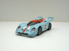 Faller AMS AURORA AFX Porsche 917k Gulf #2 schwarze Scheibe