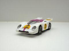 Faller AMS AURORA AFX Porsche 917k weiß/lila #2 klare Scheibe