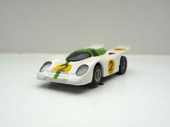 Faller AMS AURORA AFX Porsche 917k weiß/grün #2 schwarze Scheibe - geschlossene Haube