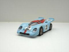 Faller AMS AURORA AFX Porsche 917k Gulf #2 klare Scheibe