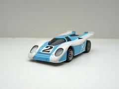 Faller AMS AURORA AFX Porsche 917k hellblau/weiß #2 schwarze Scheibe