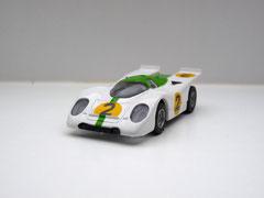 Faller AMS AURORA AFX Porsche 917k weiß/grün #2 klare Scheibe - geschlossene Haube